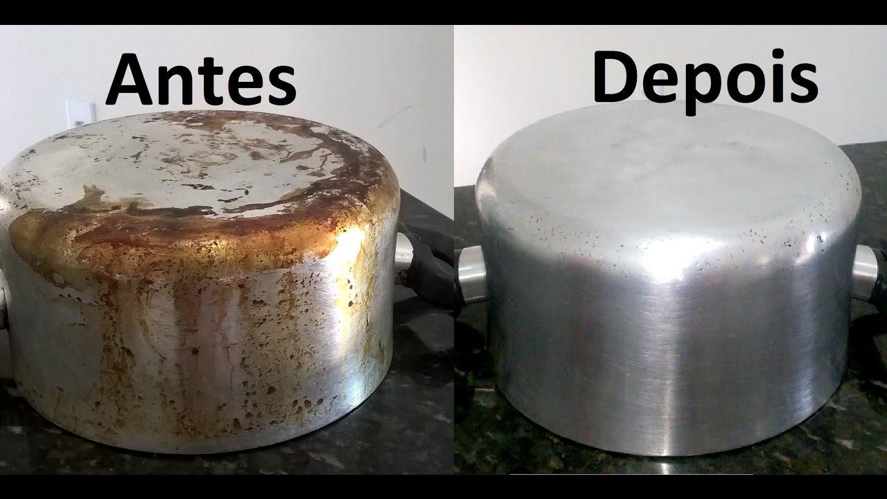 como limpar formas de aluminio