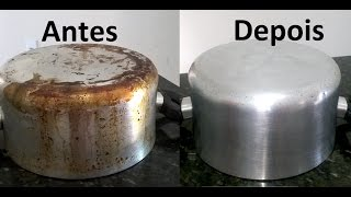 Como limpar panela manchada de gordura queimada