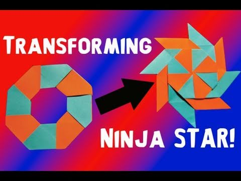 Papercraft How to Make a Transforming Ninja Star! (8-Pointed)