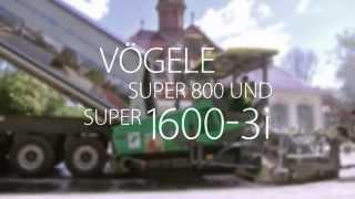 VÖGELE SUPER 800 und SUPER 1600-3i, Kassel, Deutschland