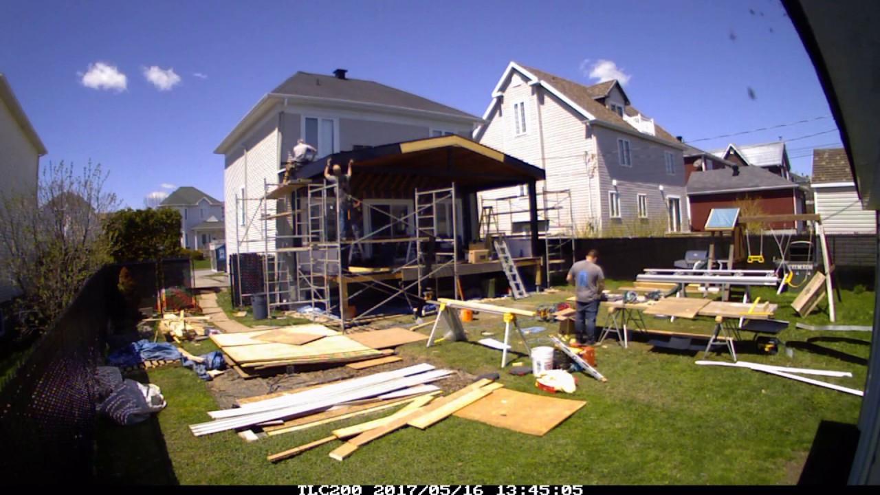 Terrasse Avec Toit Permanent Construction Proklif