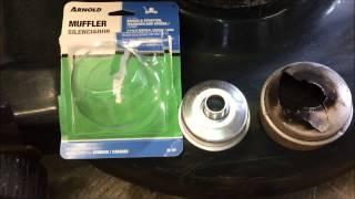 Lawn Mower Muffler Removal and Repair
