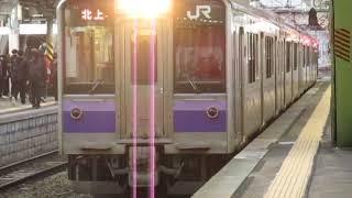 東北本線701系1000番台盛岡駅発車2