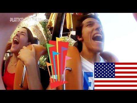 Nuevos Gritos en Six Flags Magic Mountain de Los Angeles California | Los Polinesios Vlogs