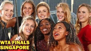 WTA FINALS Red Carpet - GROUPS and Matches BEST 8 FEMALE TENNIS PLAYERS