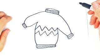 How to draw a Sweater or Jersey Step by Step | Easy drawings