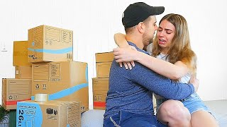 I'm Moving Out PRANK on Girlfriend! SHE CRIED :(