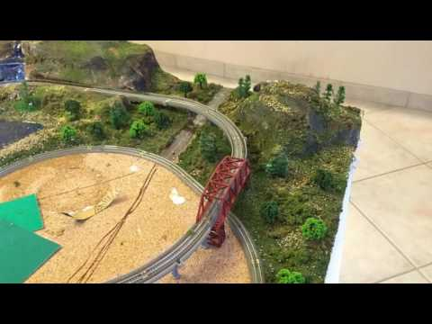 My  Movie T Scale Train Layout From Start To Finish