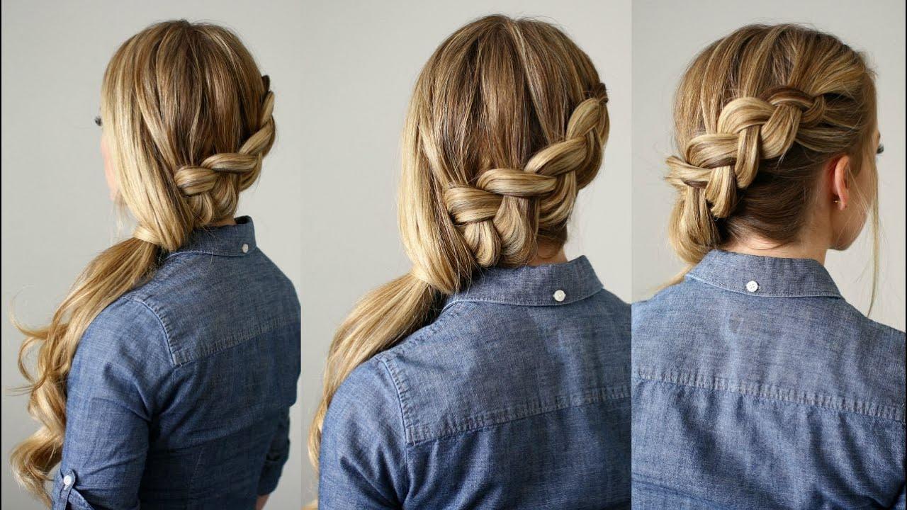 side-swept dutch braid ponytail | missy sue