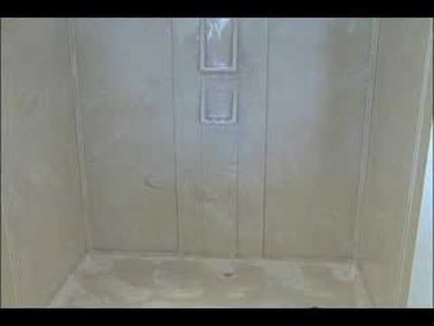 Cultured Marble Shower Wall Kit Installation: Step 7   YouTube