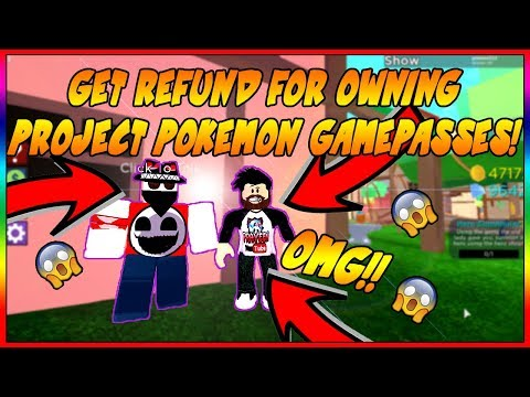 [OMG!!] WE GOT REFUND! GET GEMS FOR OWNING PROJECT:POKEMON GAME PASSES! IN  HERO HAVOC - Roblox