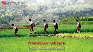 SEDIH!!!!Lagu BUGIS ininnawa sabbarae || kenangan masa kecil