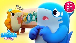 Baby Sharks sing the Sorry Song - Good Behavior for Kids - Baby Shark Song for Kids