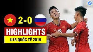 Highlights Việt Nam 2-0 Russia | Tương lai bóng đá VN ban bật như Barcelona hành hạ đối thủ Châu Âu