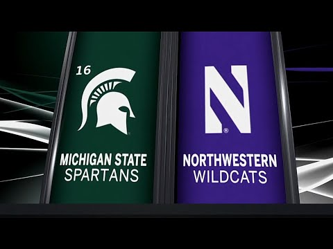 Michigan State at Northwestern - Football Highlights