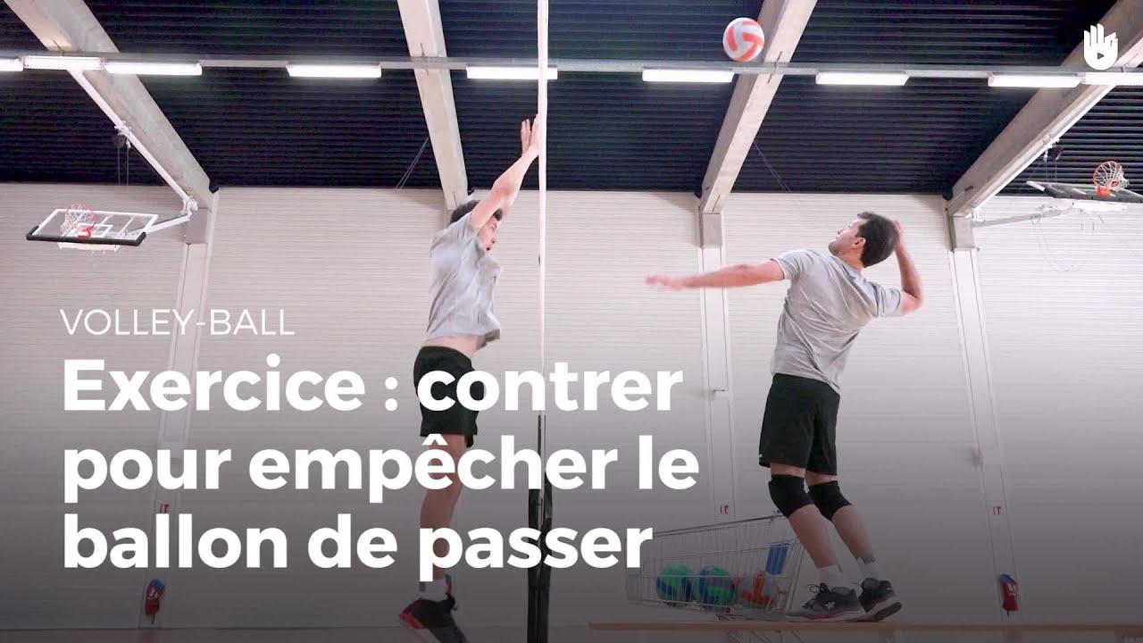 Exercice de contre : empêcher le ballon de passer | Volley ...