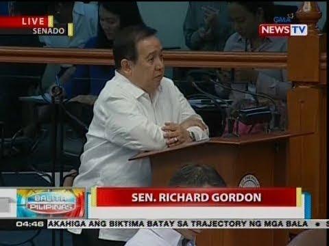 Sen. Gordon, tumugon sa manifestation ni Sen. Trillanes kaugnay ng inihain niyang ethics complaint