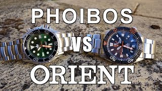 Automatic Dive Watch Duel! Phoibos Ocean Master PY005 vs Orient M-Force Bravo - Perth WAtch #137