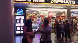 You can't always get what you want - Rolling Stones cover on Freemont Street
