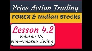Price Action Course for Indian Share Market & Forex - Volatile & NonVolatile Moves - Lesson 4.2