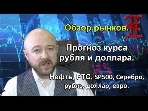 Обзор рынков. Прогноз курса рубля и доллара. Нефть, РТС, SP500, Серебро, Рубль, Доллар, Евро.