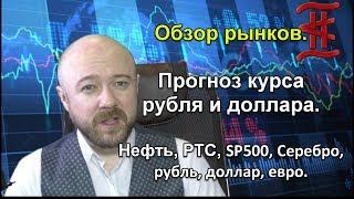Смотреть видео Обзор рынков. Прогноз курса рубля и доллара. Нефть, РТС, SP500, Серебро, Рубль, Доллар, Евро. онлайн