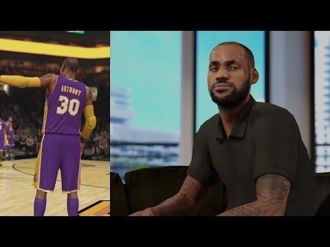 NBA 2K14 PS4 My Career - LeBron Recruiting