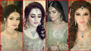 Beautiful and stunning Pakistani engagement bridal makeup look
