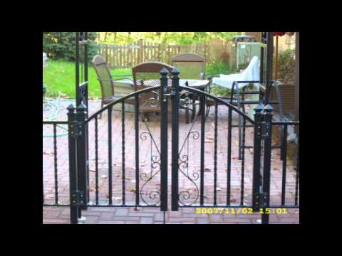 Ornamental railing and Wrought Iron Gate - Fusion Fabrications LLC