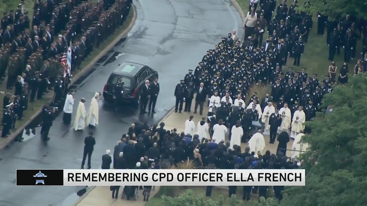 Thousands gather for funeral for Officer Ella French