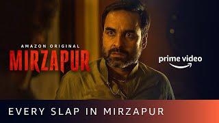 Every slap in MIRZAPUR - Pankaj Tripathi, Ali Fazal, Vikrant Massey, Divyenndu | Amazon Original