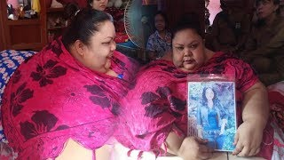 Penampakan Sosok Titi Wati, Disebut Wanita Paling Gemuk di Kalimantan Tengah