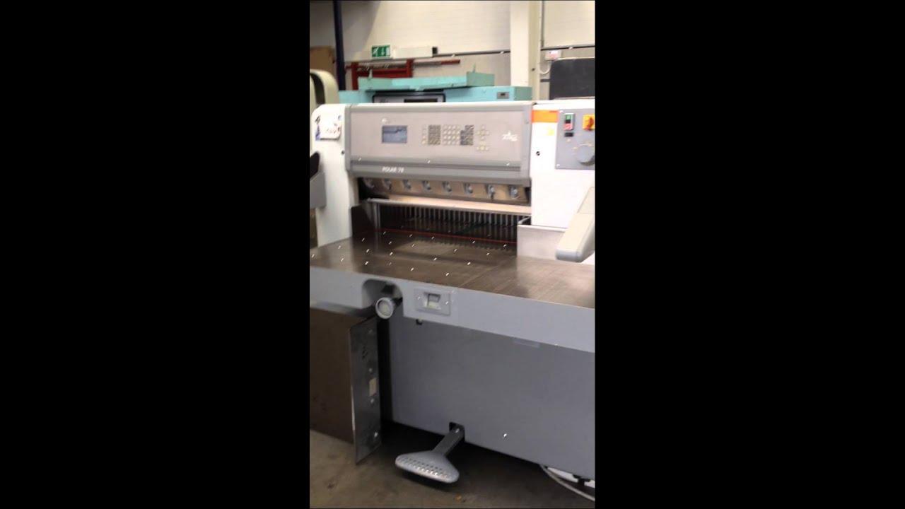 paper cutting machine polar 78 gullotine youtube rh youtube com
