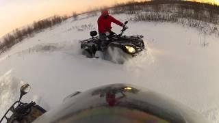 квадроциклы по снегу видео