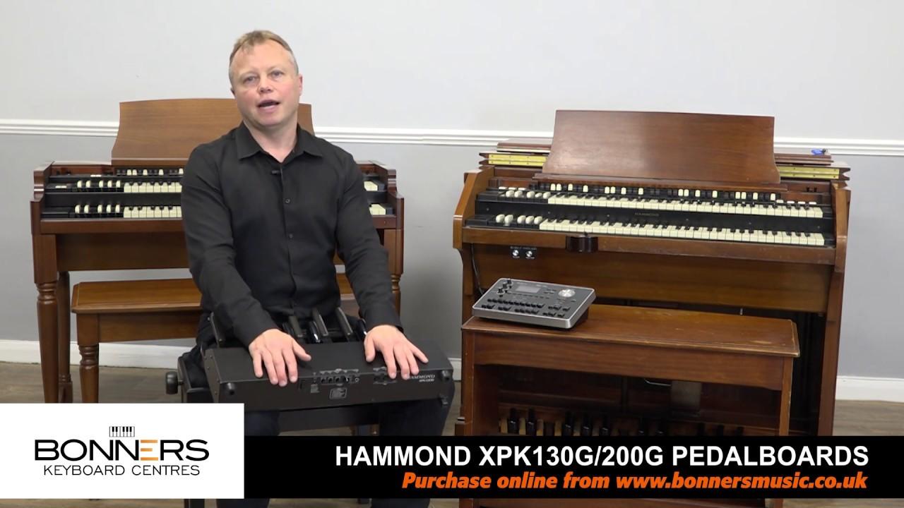 Hammond XPK130G XPK200G & XPK200GL MIDI Pedalboards