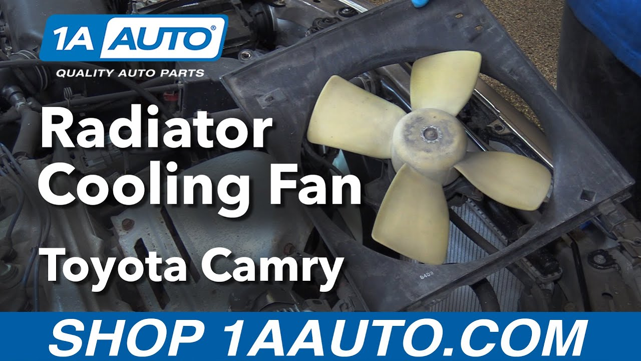 medium resolution of how to replace radiator cooling fan 97 01 toyota camry
