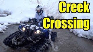 Winter All Terrain Vehicle Tracking On The Yamaha Kodiak & Grizzly - Jan.17, 2015