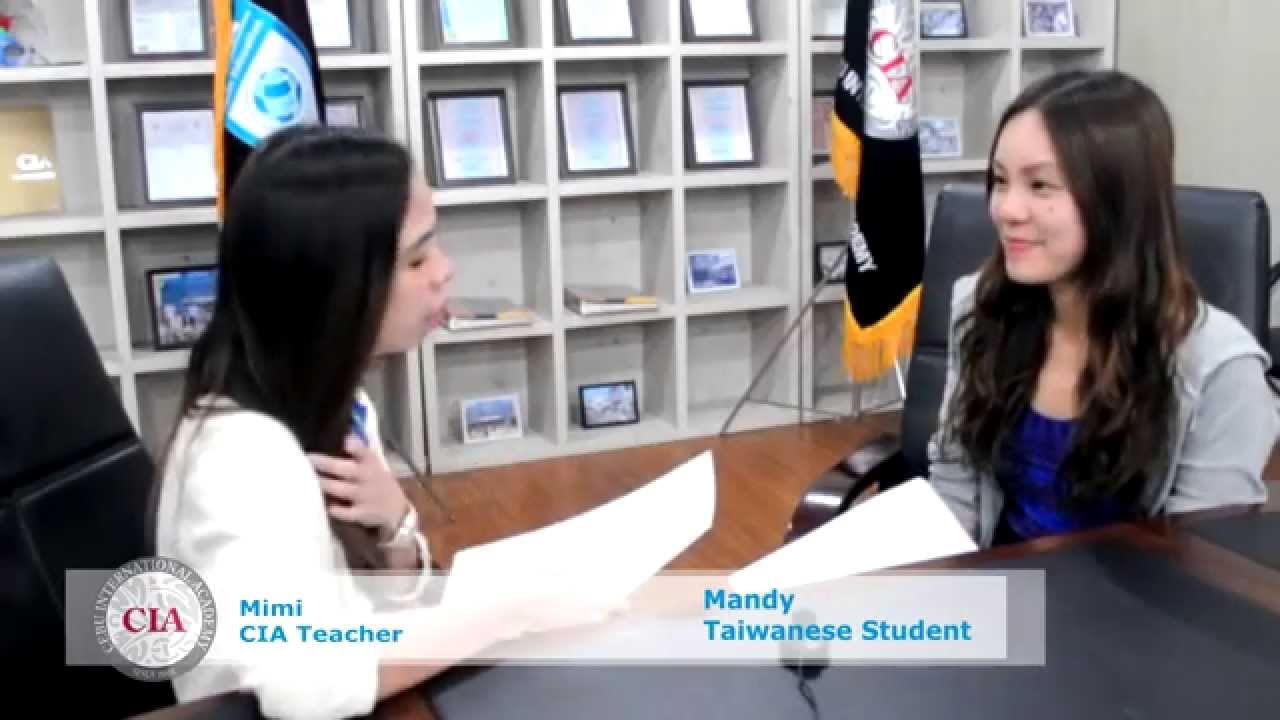 english school in cebu cebu international academy english school in cebu cebu international academy student interview mandy