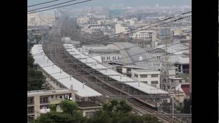 新幹線の過密ダイヤが見える画像Part1(Time Lapse of high speed Railway-1)