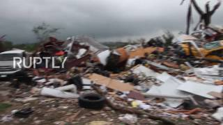 USA  Five dead after tornadoes rip through east Texas