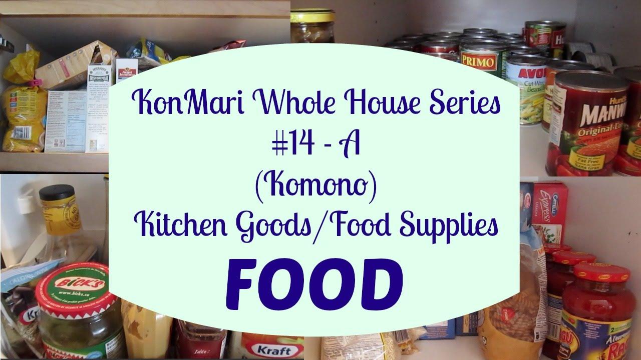 Konmari Complete Series 14 A Komono Kitchen Food