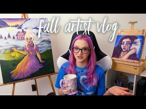Recent Art Projects and Art Studio Vlog || Artist Talk