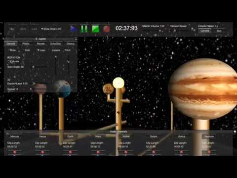 Orrery - 3D music software based on solar system (Mac, PC, iOS, Android) 2017