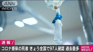 新型コロナ 1日当たりの国内死者97人確認 最多に(2021年1月13日) - YouTube
