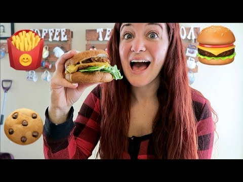 WHAT I EAT IN A DAY   SNOW DAY VLOG