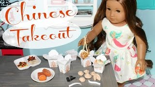 DIY American Girl Doll Chinese Takeout Food Craft