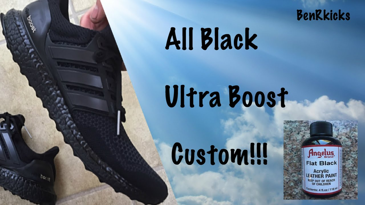 255a7cd66fb91 ... ireland how to black out adidas ultra boost youtube 5ffc7 82796