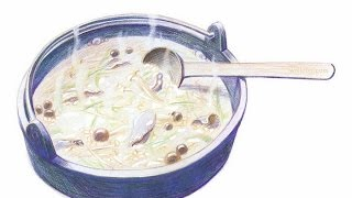 How to draw a realistic bowl of soup
