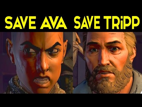 The Walking Dead Game Season 3 Episode 4 ALL ENDINGS - SAVE AVA / SAVE TRIPP