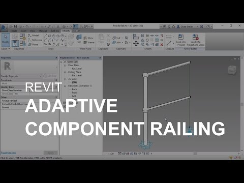 Revit Adaptive Component Railing - YouTube